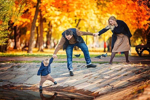 идей для фотосессии на улице осенью