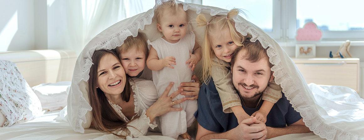 Домашняя фотосессия с ребенком